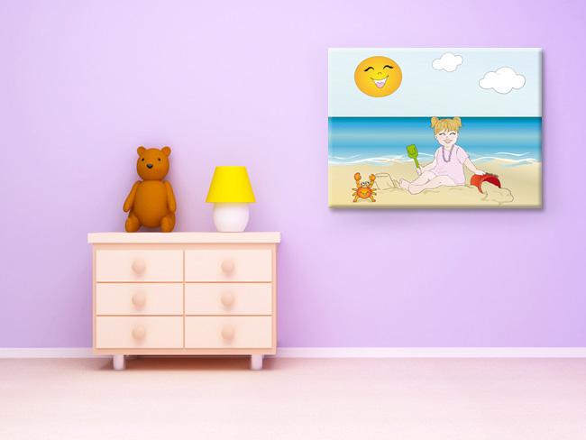 Niña playa